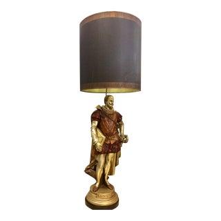 Miguel De Cervantes Lamp Including Shade For Sale