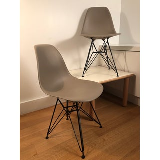 Eames Molded Plastic Side Chairs Wire Legs - A Pair Preview