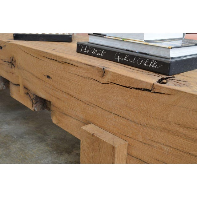 Modern Ozshop Antique Oak Beam Coffee Table For Sale - Image 3 of 5