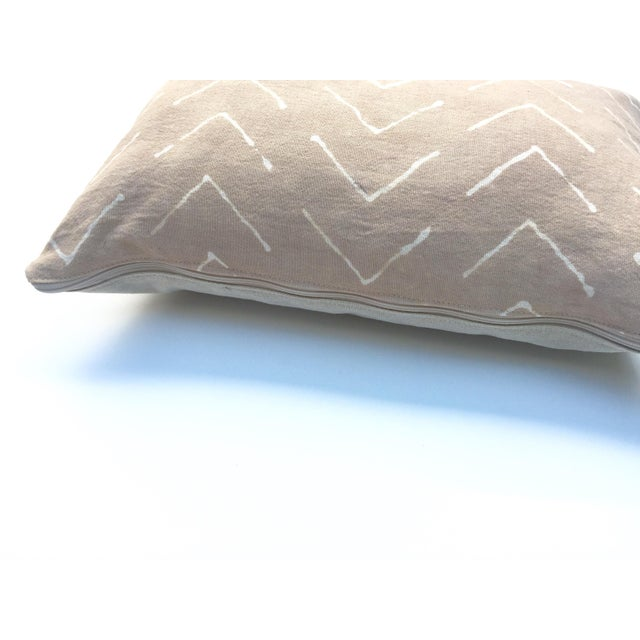 Hand-Dyed Beige Tribal Pillow Cover - Image 4 of 5