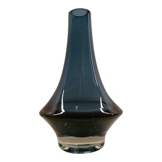 1970 Erkkitapio Siiroinen for Riihimaki Glass Factory Mid Century Modern Vase For Sale