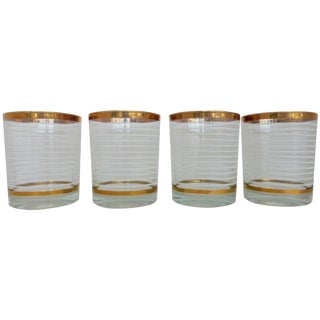 Mid-Century Whiskey Glasses - Set of 4