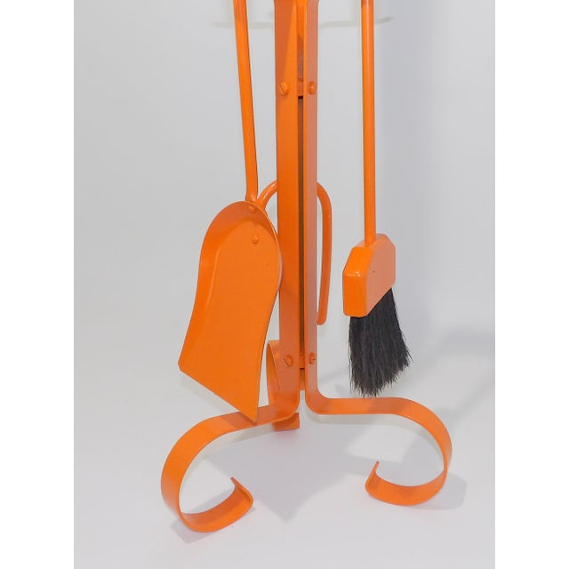 Mid-Century Modern Orange Mid Century Modern Fireplace Tool Set For Sale - Image 3 of 7