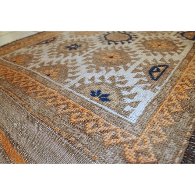 1890s Hand Made Antique Afghan Baluch Rug - 2′1″ × 3′9″ - Image 4 of 10