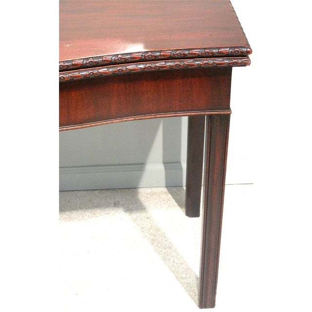 18th Century George III Mahogany Serpentine Front Game Table - Image 3 of 10