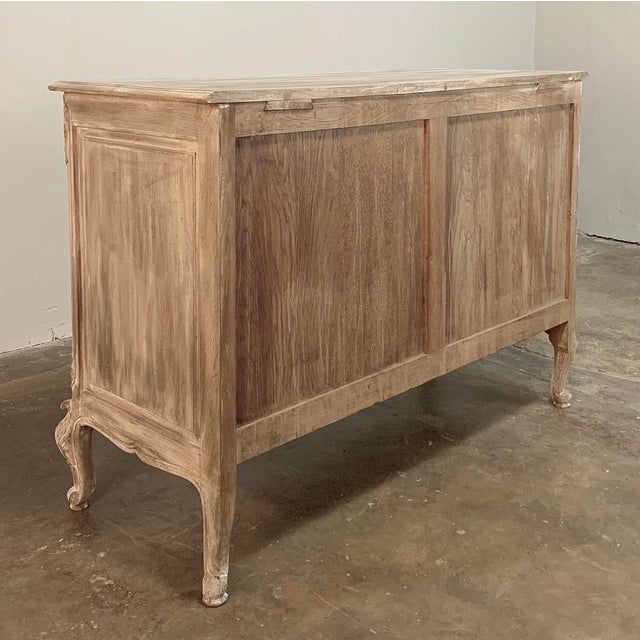 Antique Country French Whitewashed Oak Commode For Sale - Image 12 of 13