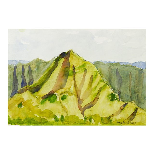 Abstract Landscape Watercolor Painting For Sale