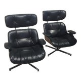 Image of Mid-Century Modern Rosewood Plycraft Eames -Style Lounge Chairs- A Pair For Sale