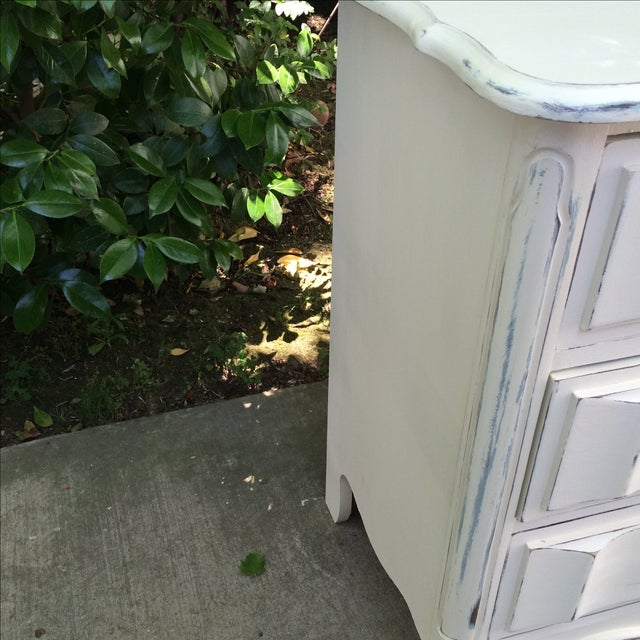 French Provincal White Buffet Dresser For Sale - Image 9 of 11