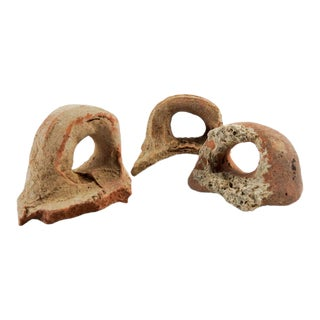 Ancient Mediterranean Pottery Fragments - Set of 3 For Sale