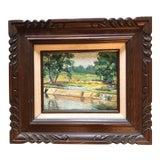 Image of Original Vintage Impressionist Landscape Painting For Sale