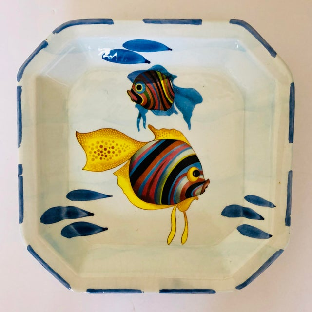 Vintage Italian Decorative Fish Plate For Sale - Image 4 of 4