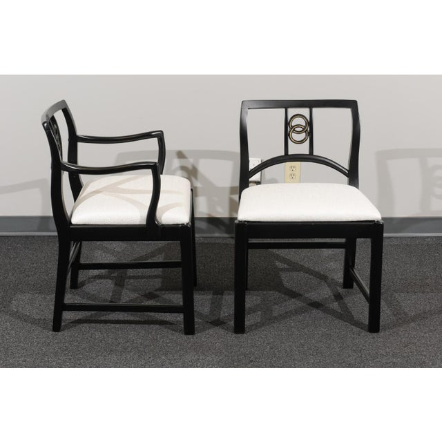 Chic Restored Set of 6 Dining Chairs by Baker Furniture, circa 1960 For Sale - Image 10 of 13