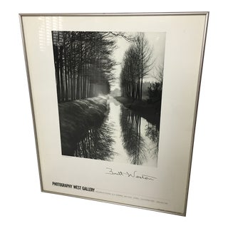 1970s Vintage Brett Weston Canal , Netherlands Poster For Sale