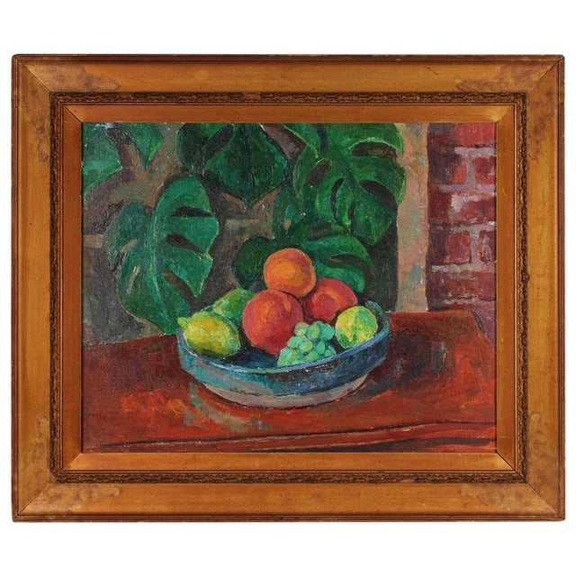 Still Life With Fruit, Oil on Canvas, 20th Century For Sale