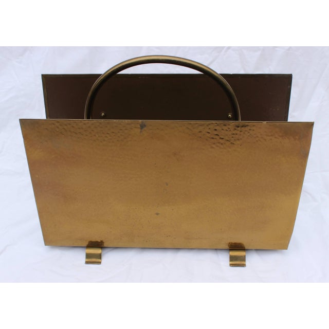 Gold English Brass Magazine Holder by Peerage For Sale - Image 8 of 11