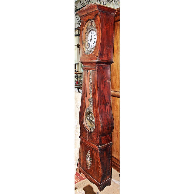 Vintage French Mobier Clock For Sale - Image 9 of 9