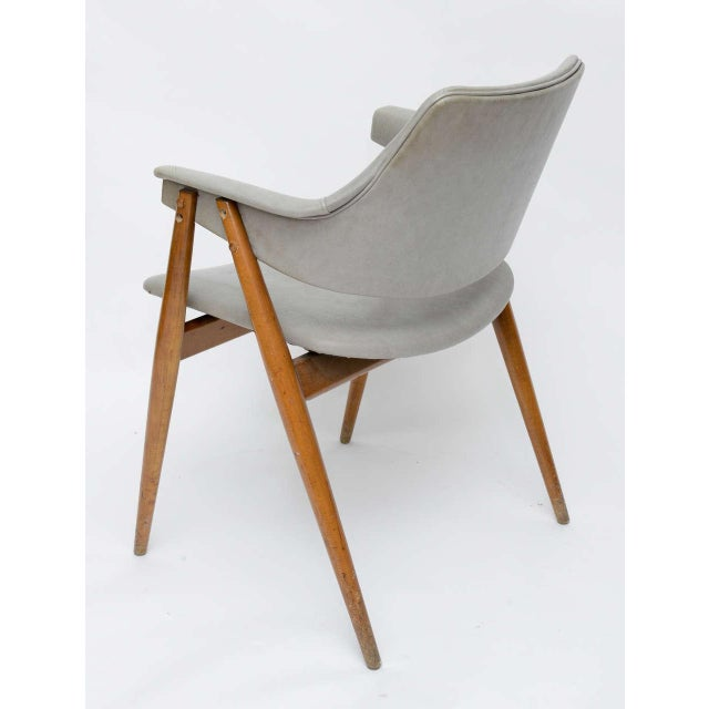 Gray Wooden MCM Chair Attributed to Paul McCobb 1950 For Sale - Image 8 of 10