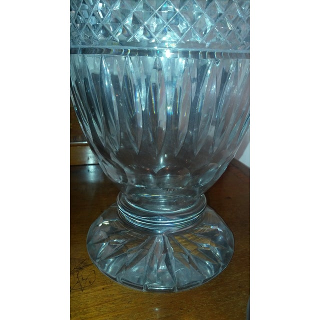 Hollywood Regency Antique Large Waterford Irish Crystal Vases - 2 For Sale - Image 3 of 9