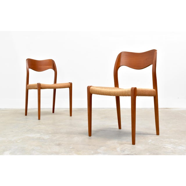 Danish Modern j.l. Møller Model 71 Teak Dining Chairs - Set of Six For Sale In Orlando - Image 6 of 13