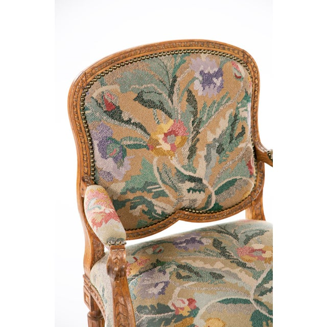 Louis XV 19th Century Louis XV Carved Armchair For Sale - Image 3 of 7