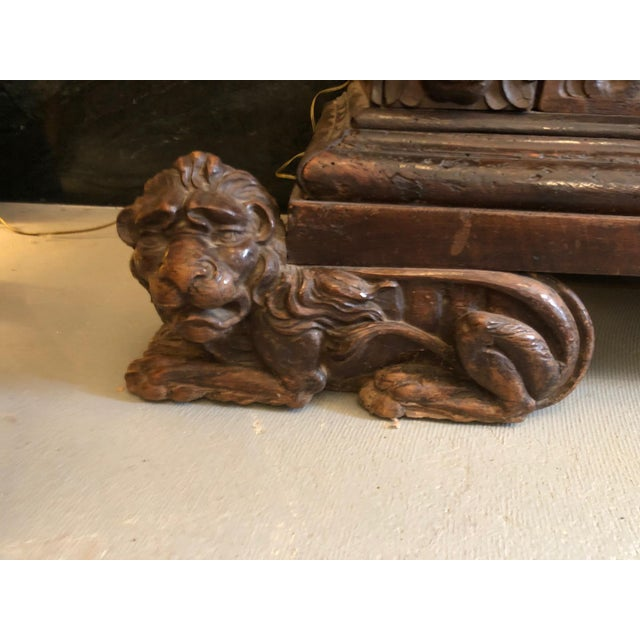 19th Century Renaissance Revival Hand Carved Cabinet For Sale - Image 9 of 13