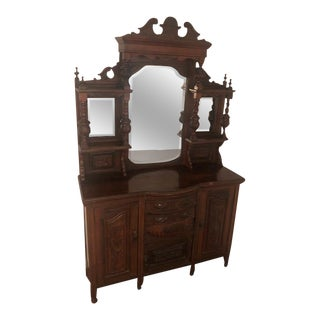 American Victorian Carved Sideboard