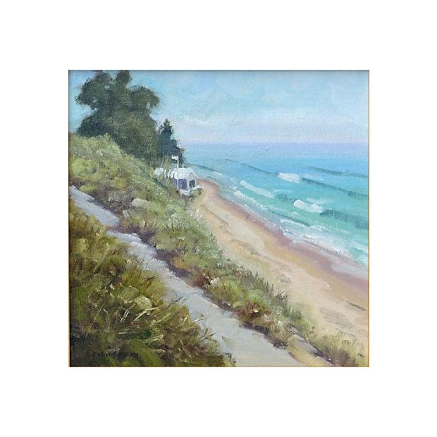 Rob Robinson Beach Seascape Painting - Image 2 of 2