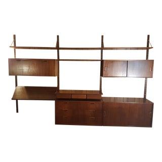 1960s Vintage Sven Ellekaer for Albert Hansen Wall Unit Shelf For Sale