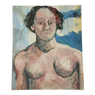 Regina Gately Picasso Inspired Female Nude Study Painting For Sale