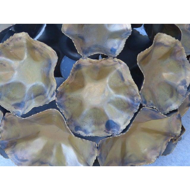 Metal Geodesic Shape Torch Cut Tom Greene Feldman Chandelier For Sale - Image 7 of 11