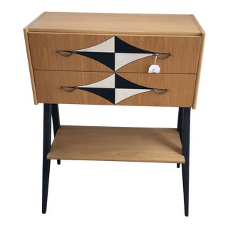 Mid-Century Tall V Leg Cabinet For Sale