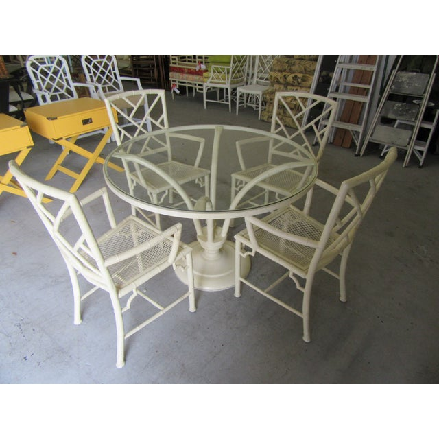 Chippendale Meadowcraft Aluminum Patio Set - 5 Pieces For Sale - Image 9 of 9