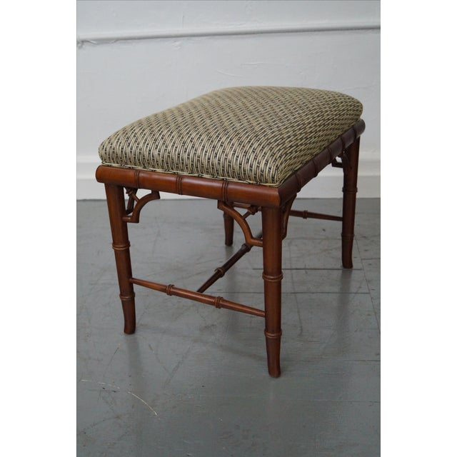 Councill Craftsman Faux Bamboo Ottoman - Image 6 of 10