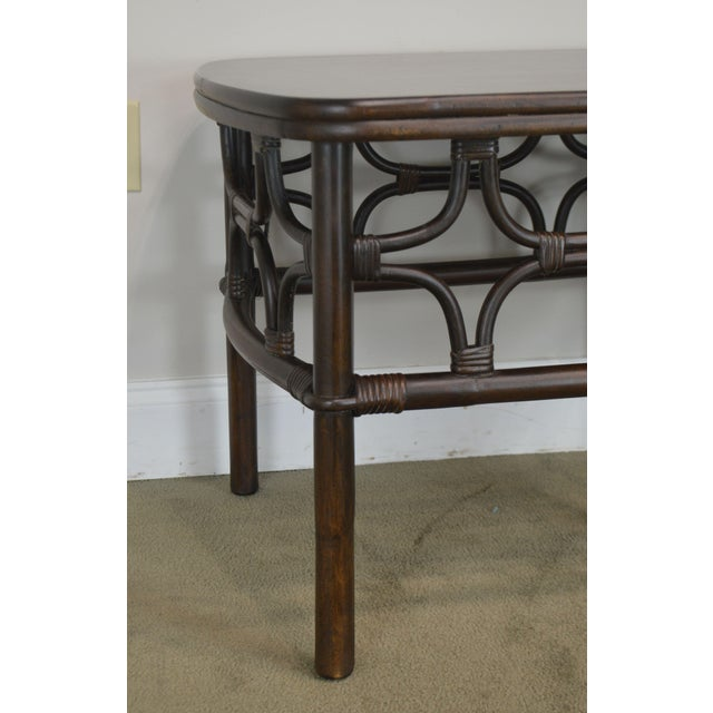 Vintage Rattan Pair Side Tables For Sale - Image 12 of 13