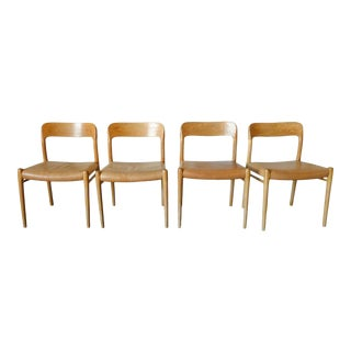 "1960s Niels Otto Møller ""Model 75' Chairs - Set of 4 For Sale"