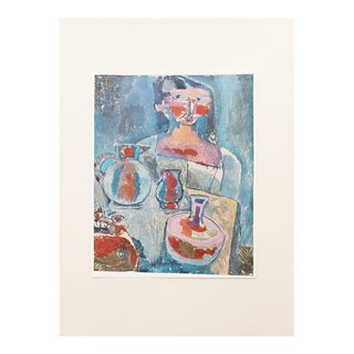 1958 Paul Klee, Girl With Jugs Vintage Lithograph Print For Sale