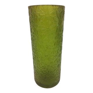 1970s Sascha Brastoff Green Resin Candle Holder For Sale