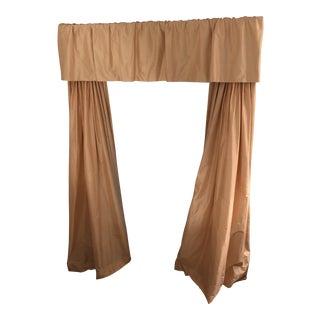 Custom Pink Silk Curtain/Drapery For Sale