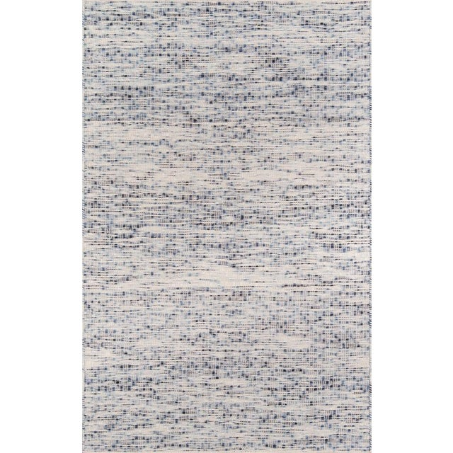 Erin Gates Dartmouth Bartlett Blue Hand Made Wool Area Rug 2' X 3' For Sale