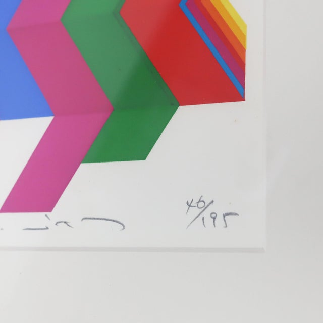 """Framed Fumio Tomita """"Walking Star"""" Serigraph For Sale In New York - Image 6 of 11"""