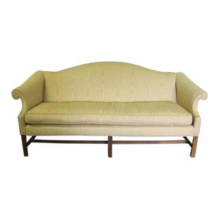 Upholstered Camelback & Scroll Arm Sofa