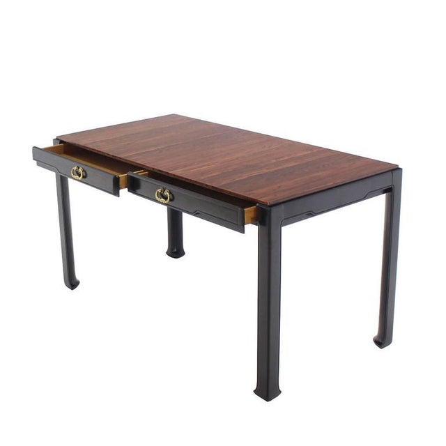 Early 20th Century Rosewood Top Mid-Century Modern Writing Table For Sale - Image 5 of 8