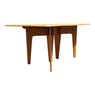 Heywood Wakefield Mid-Century Modern Blonde Wood Drop-Leaf Dining Table For Sale