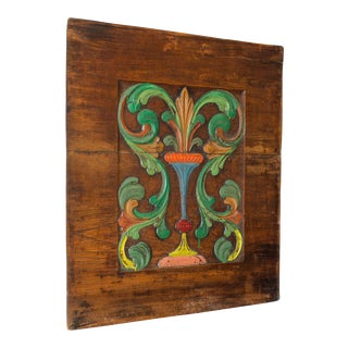 Painted, Carved Fountain Panel, France c.1890 For Sale