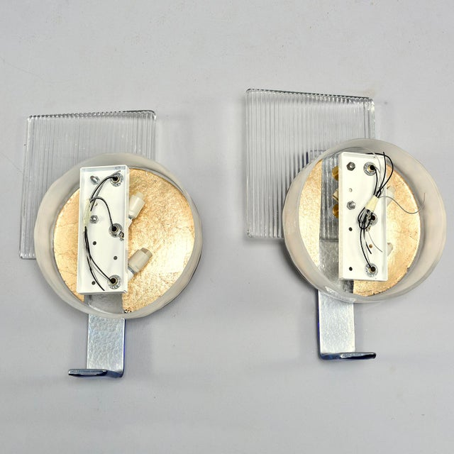 Pair of Wall Lights With Vintage Murano Glass Elements For Sale - Image 10 of 11