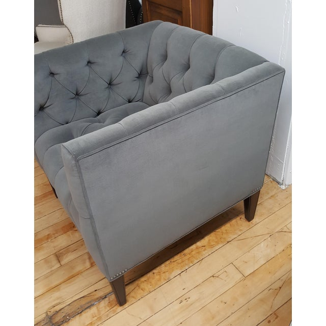 Contemporary Contemporary Wesley Hall Tufted Club Chair For Sale - Image 3 of 10