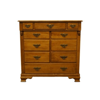 "Tell City Solid Hard Rock Maple Colonial Style 42"" Chest of Drawers 8302 - #48 Andover Finish For Sale"