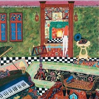 """Con Spirito"" Fantasy Interior of a Music Room Painting"