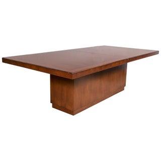 Palatial Ej Victor Ralph Lauren Modern Dining Table Solid Wood Walnut Veneer Inlaid Ebony Border
